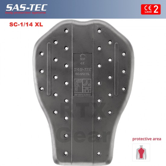 SAS-TEC German Engineered CE Level 2 Motorcycle Armour Biker SUIT Protection 9 Piece Inserts Set 1