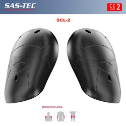 SAS-TEC CE Level 2 Shoulder Armour Pads Motorcycle Biker Jacket Suit Arm Inserts