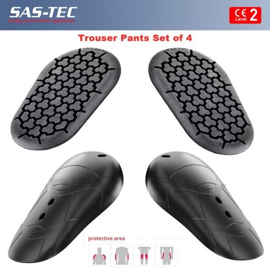SAS-TEC CE Level 2 HIPS & KNEE Armour Pads Motorcycle Biker Trouser Pant Inserts