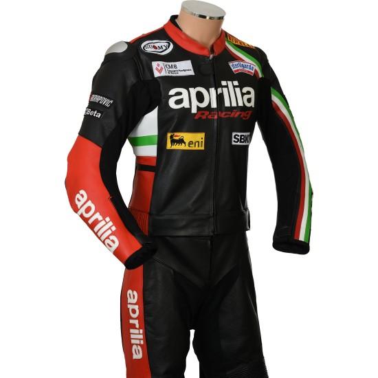 Aprilia Racing MAX Italia Motorcycle CE Leather Biker Suit