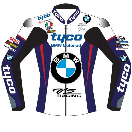 BMW Supersport TYCO TAS Racing SBK BSB Replica Leather Biker Jacket