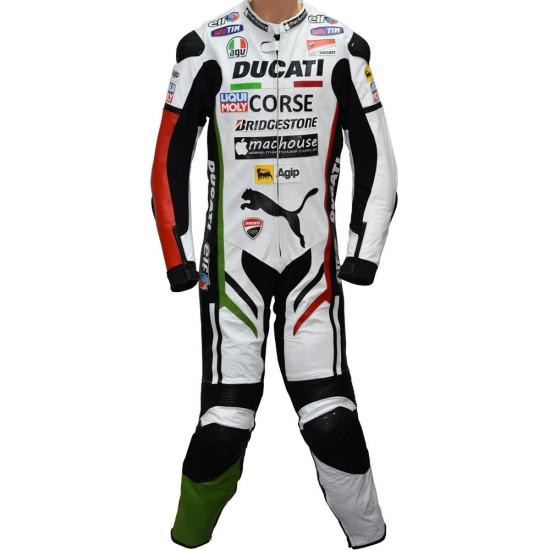 Ducati Corse Panther Race Replica Biker One Piece Race Leathers