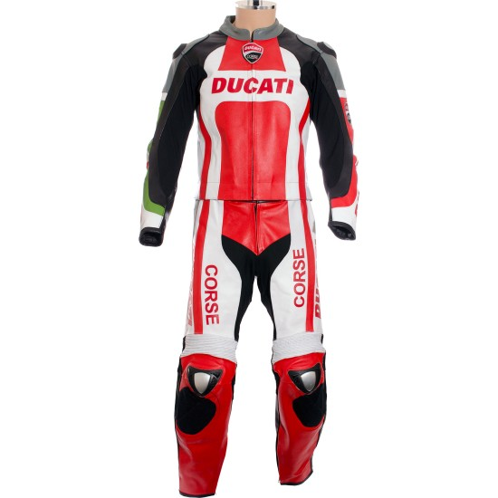 Custom Made DUCATI Leather Motorcycle Suit