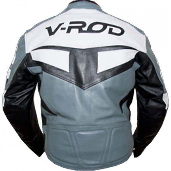 Harley V-ROD Grey 2pc Leather Biker Suit