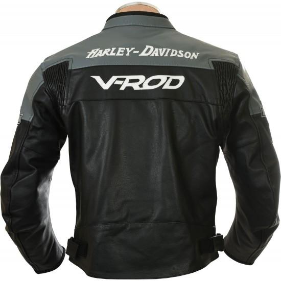 Harley Davidson Grey VROD Leather Jacket