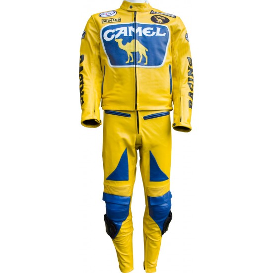 Camel Racing Yellow Motorcycle Suit