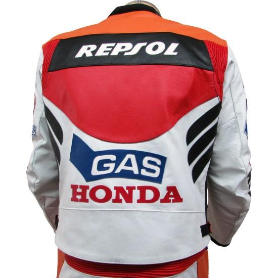 Honda Repsol Gas Classic Leather Biker Suit