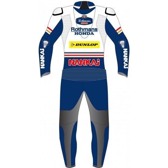 Honda Rothmans Racing Classic Race Leathers Biker Suit