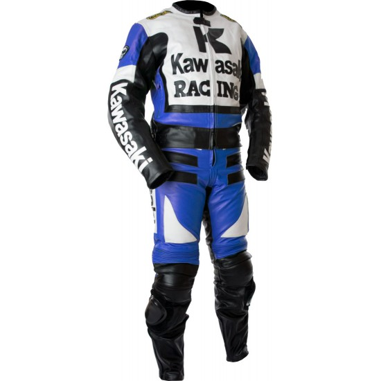 Kawasaki Ninja Blue Racing Leather Suit
