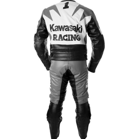 Kawasaki Ninja Grey Racing Leather Suit