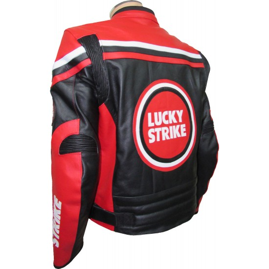 Lucky Strike Red & Black Biker Jacket
