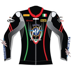 MV Agusta Special Edition Leather Motorcycle Biker Jacket