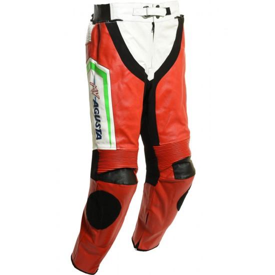 Custom Built MV AGUSTA Leather Biker Trouser Pant