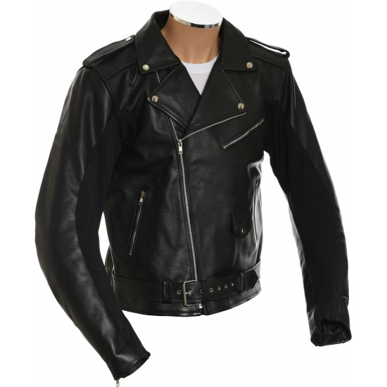 All American Mod Biker Armoured Leather Jacket
