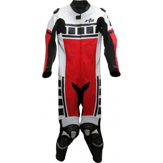 Leguna Seca Red Leather Biker Suit
