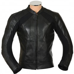 RTX Black Supersport Leather Biker Jacket