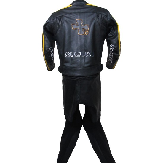 RIZLA Suzuki Black MotoGP Biker Leather Suit