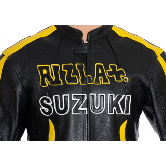 RIZLA Suzuki Black Leather Jacket