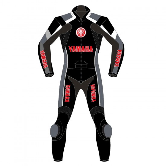 Yamaha Super Sport Black & Red Motorbike Leather Suit