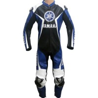 Yamaha Super Sport Blue & Black Motorbike Leather Suit