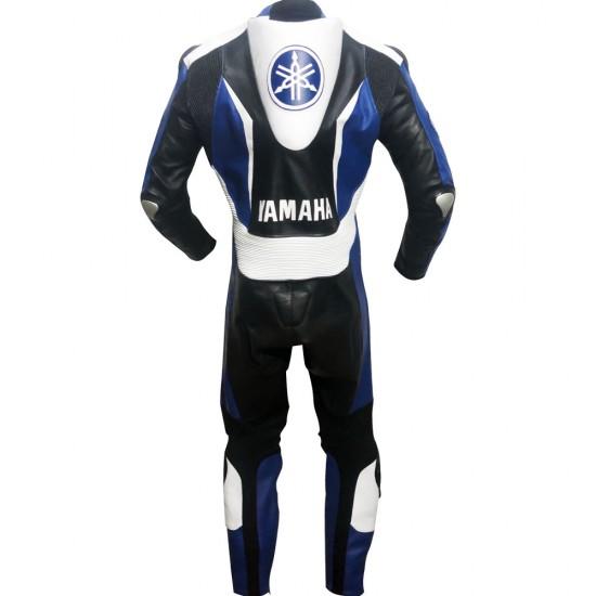 Yamaha Super Sport Blue & Black Motorbike Leather Suit