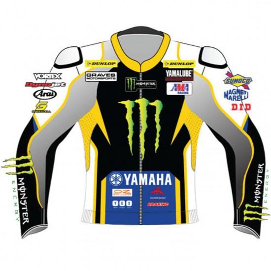 Yamaha Monster Energy MotoGP Replica Leather Biker Jacket