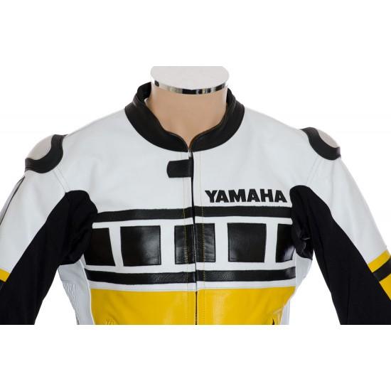 YELLOW Kenny Roberts Leguna Seca Yamaha Biker Leather Jacket