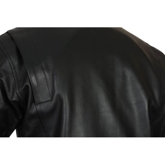 Steve McQueen GULF Black LE MAN Armoured Biker Jacket