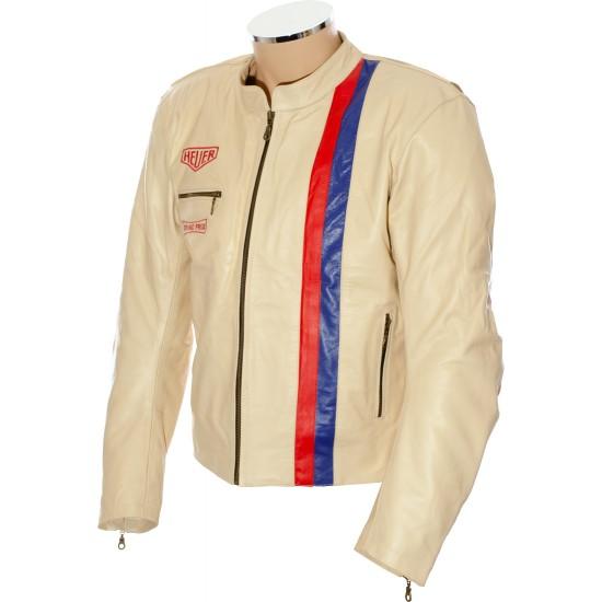 Steve McQueen Cream LE MAN Armoured Biker Jacket