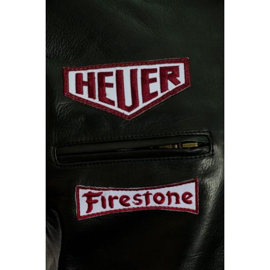 Steve McQueen Black Le-Man GULF Leather Jacket