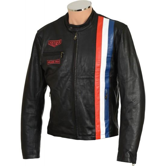 SALE - Steve McQueen Cream Armoured Biker Jacket