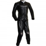 SALE - Triumph Racing Black One Piece Biker Leathers - MEDIUM