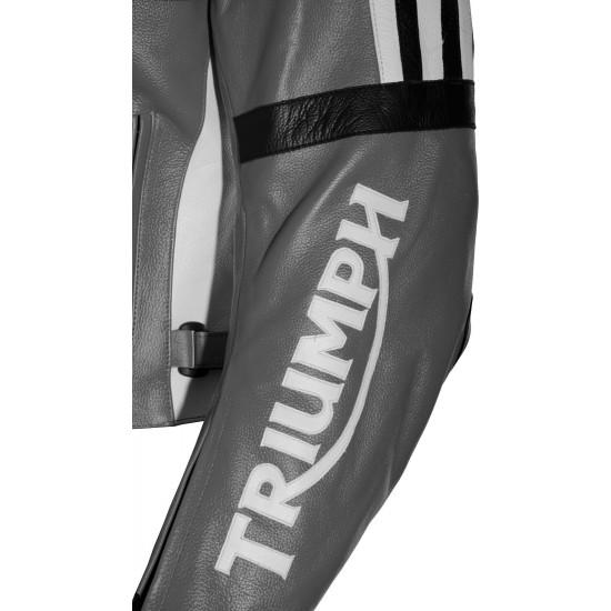 Triumph Daytona Classic Grey Motorcycle Jacket