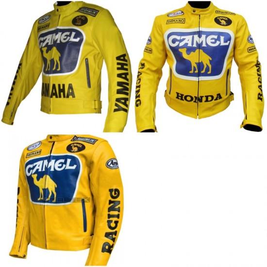 Custom Built CAMEL Leather Motorbike Jacket