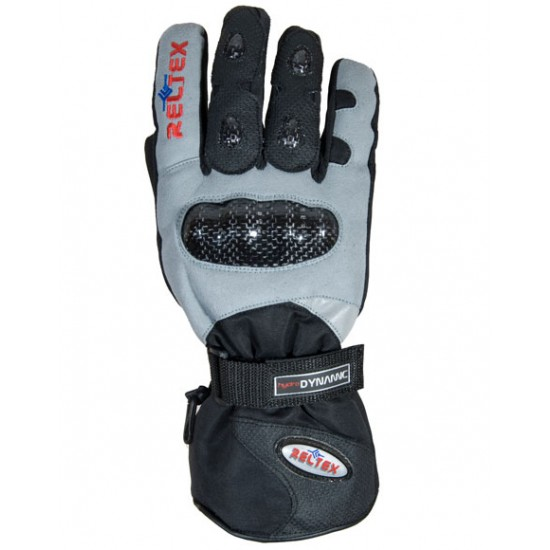 Hydro Dynamic Grey Thermal Warm Motorcycle Gloves